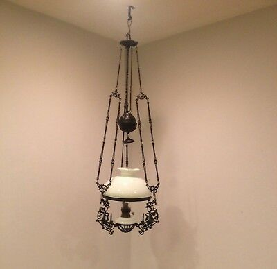 """DUTCH   """"rise and fall""""  HANGING OIL LAMP, 19th Century"""