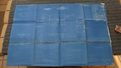 """(A105) Original 1917 Blueprint Drwg 26"""" x 39"""" - 800 Gal Feed and Filter Tank"""