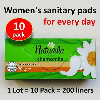 Women's sanitary pads for every day Naturella Chamomile 1 Lot -200 liners