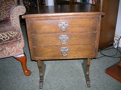 Vintage Antique Small Chest Of Drawers Bedside Table