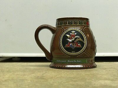 """Anheuser Busch AB """"The 1930 Edition A & Eagle"""" Members Only Club Stein Budweiser"""