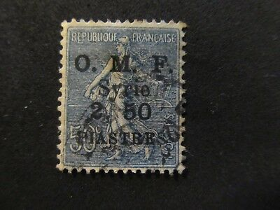 1920/22 - Syria - Surcharged In Black - Scott 42 A20 2,50P On 50C