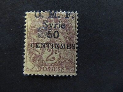 1920/23 - Syria - Surcharged In Black - Scott 59 A16 50C On 2C