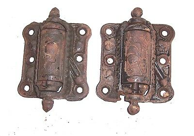 2 Vintage Screen Door Hinges Quick Release Old Self Closing , Spring Still Good
