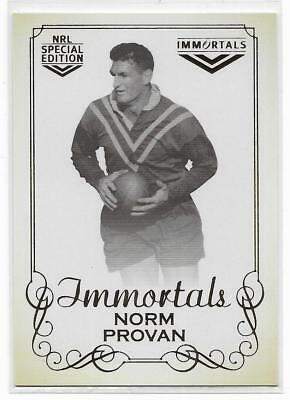 2018 Nrl Glory Hall of Fame Immortals Photo (IMP12) Norm PROVAN 048/420