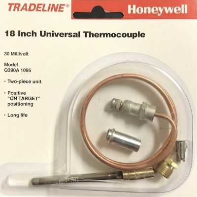 "Honeywell Universal Thermocouple 18"" Copper Q390 A 1095"