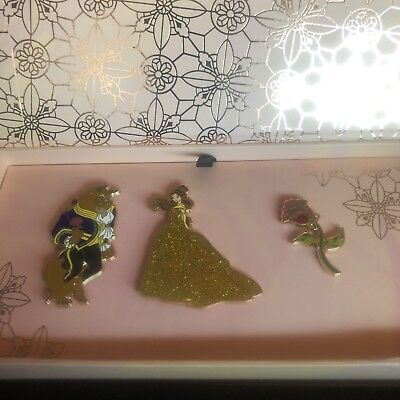 Disney Art of Belle Beauty and the Beast Limited Edition LE 1300 Pins Boxed Set