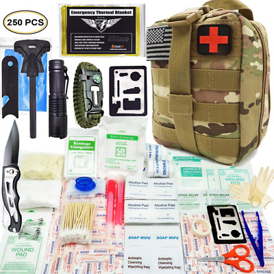 EVERLIT 250 PC Survival First Aid Kit IFAK Molle System Compatible Outdoor Gear