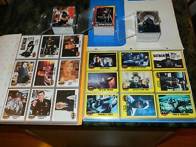 TOPPS 5 BATMAN card sets 1989 Movie Series 1 2  RETURNS Stadium Club DARK KNIGHT