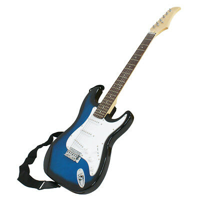 "Full Size 39"" Blue Electric Guitar with Amp,Case,Accessories Pack Beginner New"