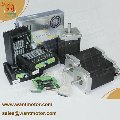 【German Ship】3Axis Nema34 Stepper Motor 1700oz,151mm, 6A CNC Cut Engraver,Miller
