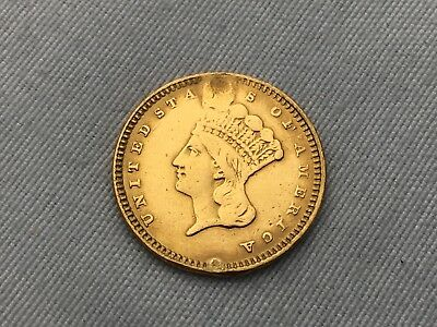 1869 United States Mint One Dollar Gold Coin $1 Type 3
