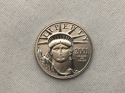 2001 1/10 oz Platinum United States Mint American Eagle Coin BU