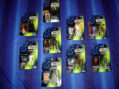 Casi Impecable Star Wars Figura de Acción Power Of Force Verde Colección - Fast