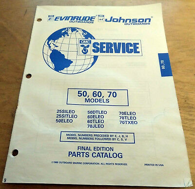 1997 JOHNSON EVINRUDE factory outboard motor parts catalog