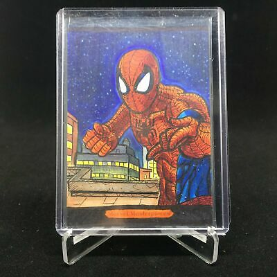 2018 Marvel Masterpieces SPIDER-MAN Sketch Vicente Moavero 1/1