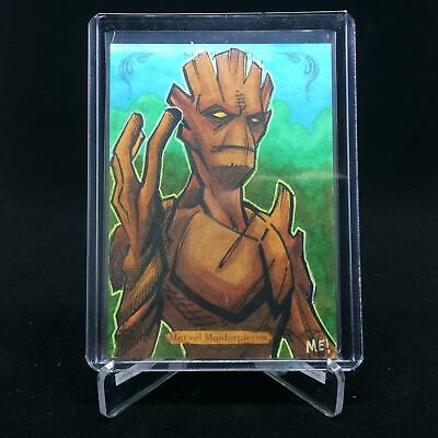 2018 Marvel Masterpieces GROOT Sketch 1/1