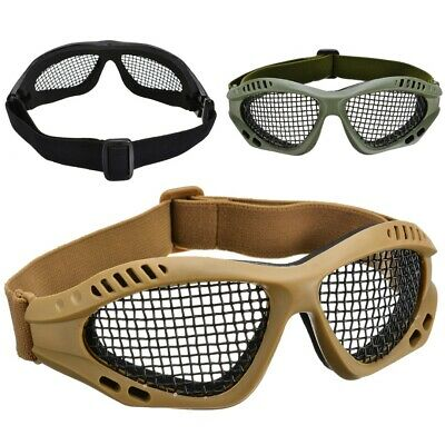 Top Quality Tactical Military Metal Mesh Goggles Shooting Glasses Airsoft Mask