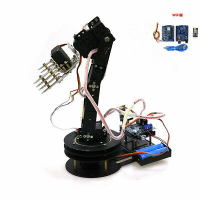 WIFI Control S5 5DOF Mechanical Robot Arm Claw with Servos for Robot