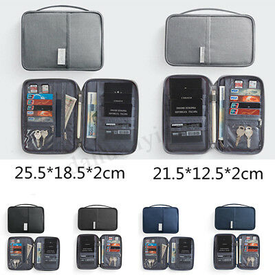 RFID Blocking Travel Storage Bag Passport Document Wallet Organizer Card Holder