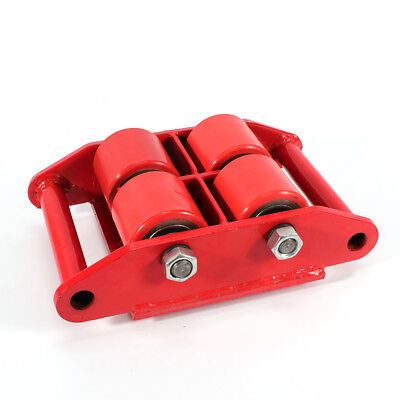 6T 13200lb Dolly Skate Roller Machinery Mover 4-Roller Heavy Duty Machine 360°