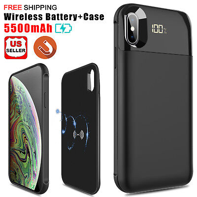 check out 388ba f067c FOR IPHONE XS Max Qi Wireless Charging Battery Charger Case Power Bank Slim  Case