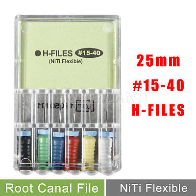 Dental H-FILES 25mm #15-40 NITI Endo Root Canal File Hand Use UK HOT