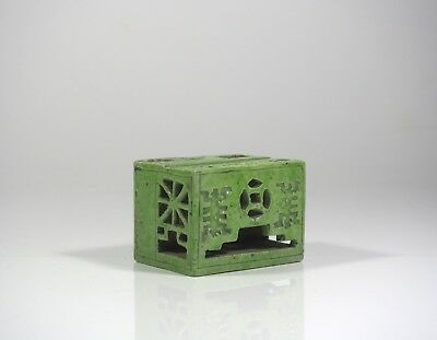 A Chinese Green Glazed Incense Holder, 19th Century