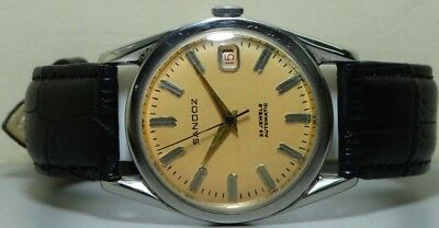 Vintage Sandoz Automatic Date Swiss Made Wrist Watch s116 Old Antique Used