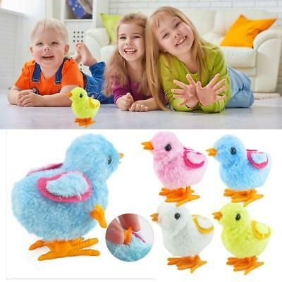 5pcs Kid Wind Up Clockwork Cute Plush Walking Chick ToyBirthday Easter Gift Toy