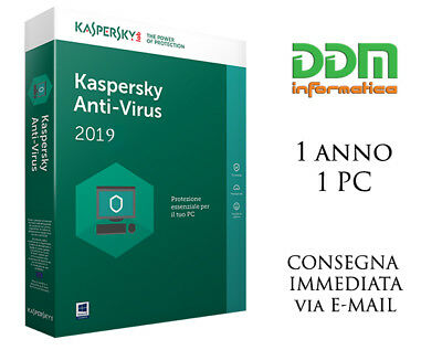 Kaspersky Antivirus 2019, 1 PC, 1 Anno, Antivirus ESD Download Immediato 2018