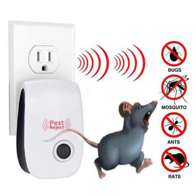 6X Whole House Electronic Rat Mouse Mice Spider Pest Repeller Deterrent Reject