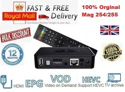 MAG254/255 IPTV Box With 12 Month Gift Warranty Premium Quality Fast Postage