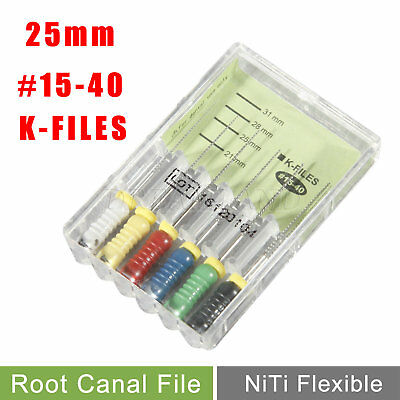 Dental K-FILES 25mm #15-40 NITI Endo Root Canal File Hand Use UK NEW