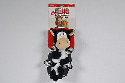 KONG, Barnyard Knots Cow Dog Toy, Scrunches & Squeaks Around Internal Rope