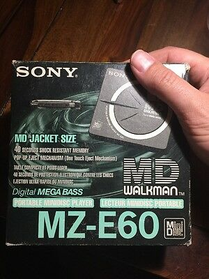 Sony MZ-E60 MD Walkman , MD, Minidisc Player