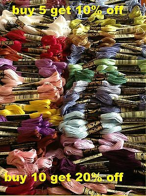 DMC Mouliné Stranded Cotton Thread 900 - 989 Free Postage when you buy 3+