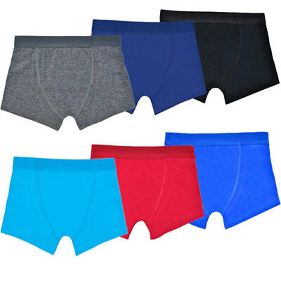 Boys 3 Pack of Boxers Trunks Brief Pants 100% Cotton Pants Sizes 2-6yrs FREE P&P