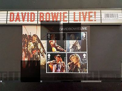 Gb 2017 David Bowie Royal Mail Presentation Stamp Pack