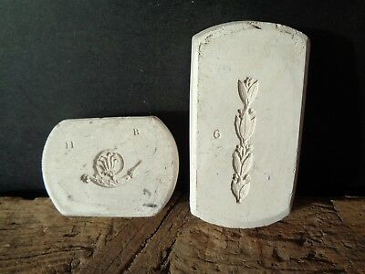 Two Unusual Interesting Vintage Antique Wedgwood Pottery Jasper Moulds, Swags