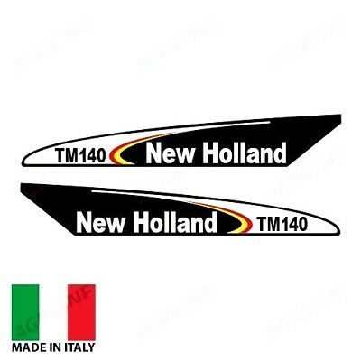 Decal Set Fits New Holland Tm140 Tractors. Older Style.