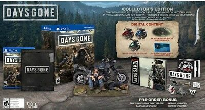 Days Gone Collector's Edition PS4 Playstation 4 + Steelbook + Statue + Book,Pins