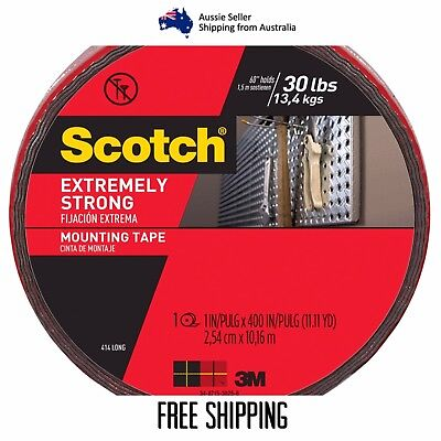 3M Scotch Extremely Strong Double Sided Mounting Tape 10m Holds Up To 13.4kg