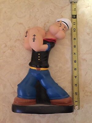 Vintage 2000 King Feature  POPEYE THE SAILOR MAN Hard Plastic Bank