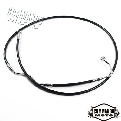 """+10"""" Stainless Upper ABS Front Brake Cable For Harley Road King FLHR 2009-2013"""