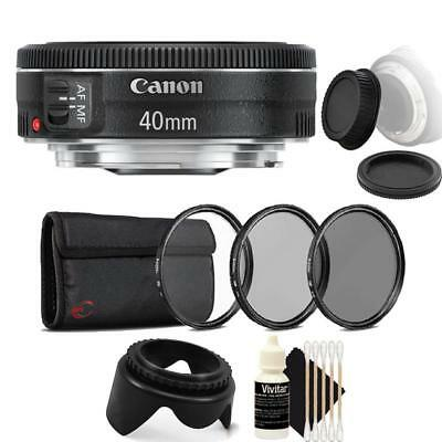 Canon EF 40mm f/2.8 STM Lens with Accessories for Canon DSLR Cameras