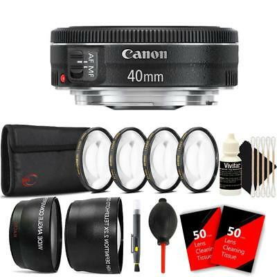 Canon EF 40mm f/2.8 STM Lens and Accessories for Canon T5 , T6 , T6i and T7i