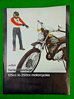 Vintage 1976 AMF Harley Davidson 125cc to 250cc Motorcycle Dealer Sales Brochure