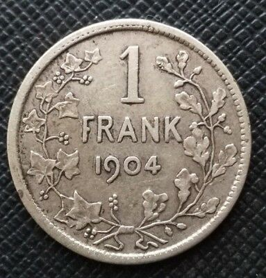 Belgique 1 Franc 1904 LEOPOLD II Argent Legend in Dutch  [09]