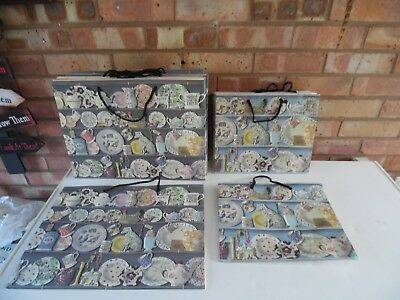 Emma Bridgewater Collection of 14 Retail Shop Bags - 9 Large & 5 Small